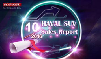 گزارش فروش هاوال 2016