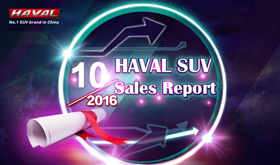 Haval Brand Sales Report in Oct. 2016 in China